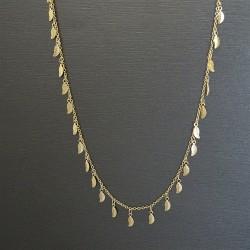 Collier  mini feuilles plaqué or
