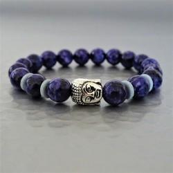Bracelet perles Lapis-Lazuli et Buddha