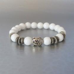 Bracelet perles  Tridacna et Buddha
