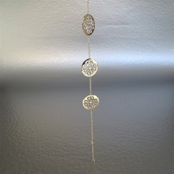 Bracelet 3 arabesques plaqué or