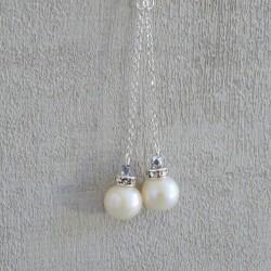 Boucles Pendantes Perles d'eau