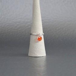 Bague anneau ajustable  Cornaline