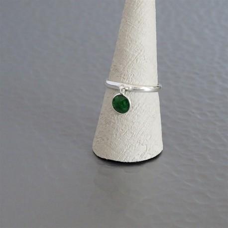 Bague anneau ajustable jade