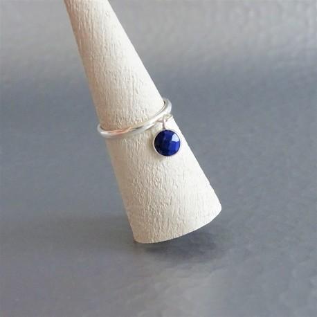 Bague anneau ajustable lapis lazuli