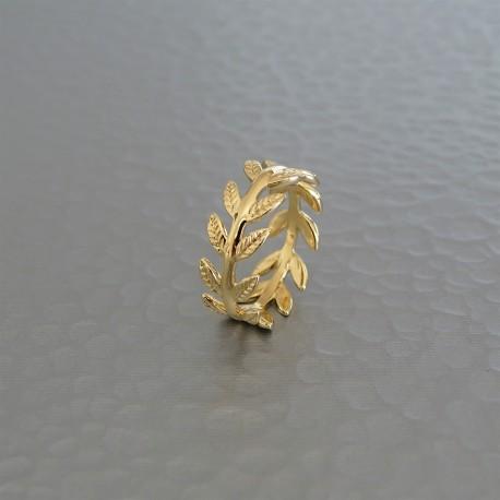 Bague épi de blé plaqué or