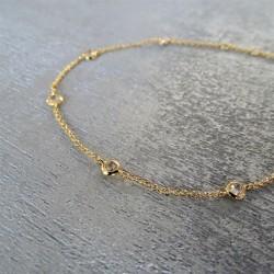 Bracelet Chaîne solitaires Sertis Clos
