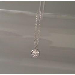 Collier Chaîne Argent Sphere Zirconium