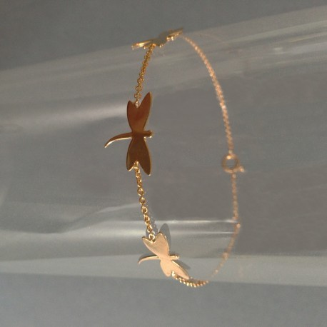 Bracelet Chaîne Plaqué Or Papillons